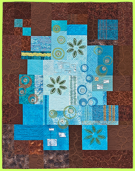 Art Quilt WAIT-A-MINUTE by Melody Crust