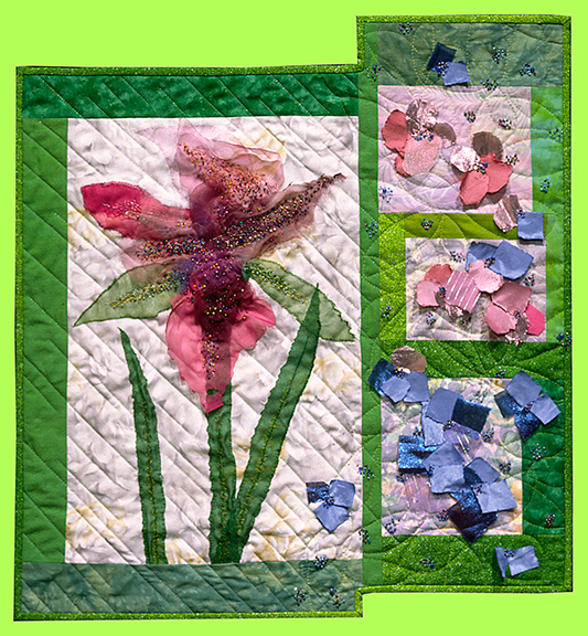 Art Quilt GARDEN PARTY by Melody Crust