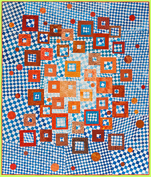 Art Quilt HYPNOTIC by Melody Crust