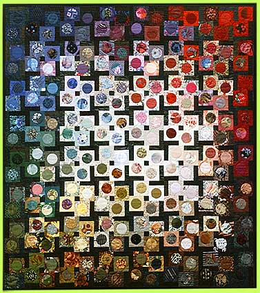 Art quilt MAH JONGG by Melody Crust