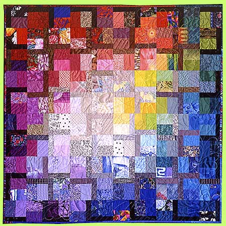 Art quilt SAFFRON by Melody Crust
