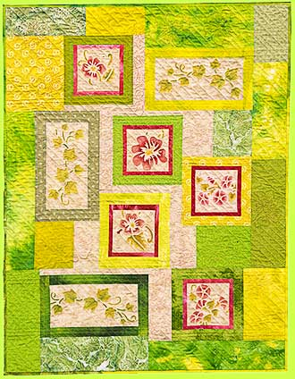 Quilt SWEET POTATO VINE by Melody Crust